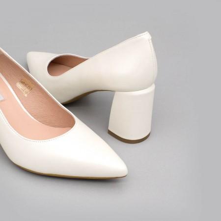 ANDREW - Zapato de novia básico de piel con tacón ancho - Zapatos de novia 2020 - Ángel Alarcón
