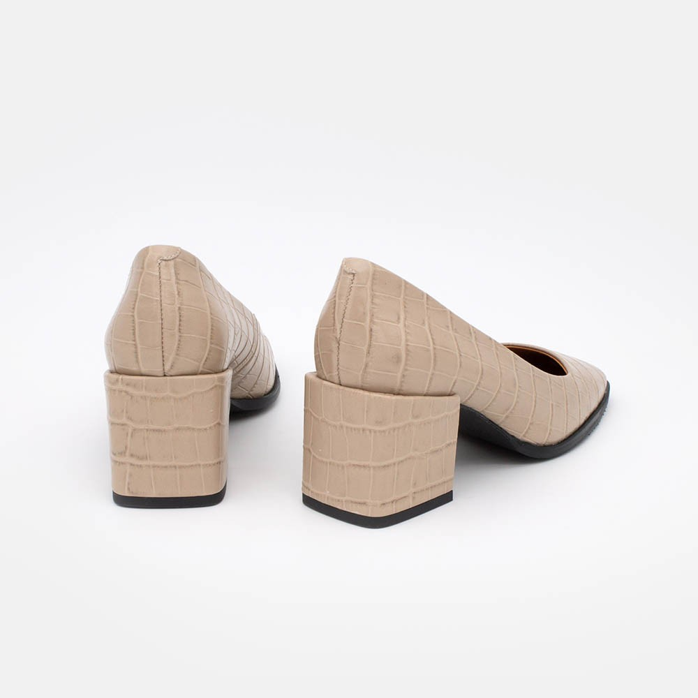20546-507F BATAM cocodrilo nude  Zapatos cerrados de tacón ancho con puntera cuadrada invierno 2020 2021 online mujer