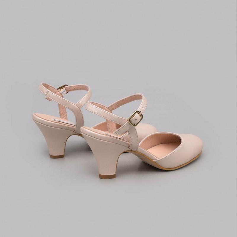 20175-570A ROXY - Zapato de punta cerrada y talon descubierto en color nude. Zapato de novia o de fiesta cómodo 2020 2021 online