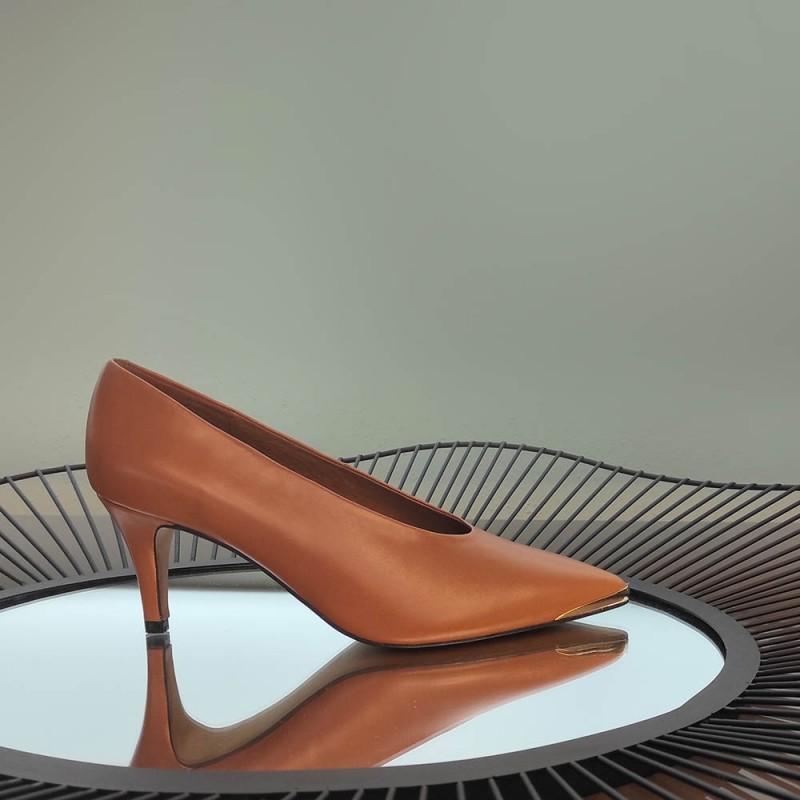 20558-309D BOHOL Stiletto de piel cuero con puntera metálica de tacón medio. Zapato de mujer invierno 2020 2021 online