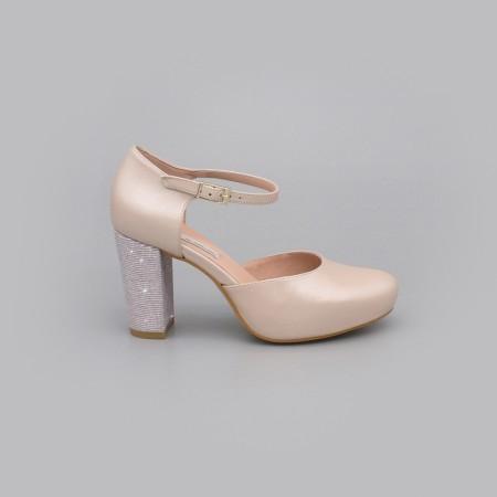 ALICE piel ivory nude rosa palo plata Zapatos cómodos de novia y fiesta con tacón ancho y plataforma  2020 Angel Alarcon mujer
