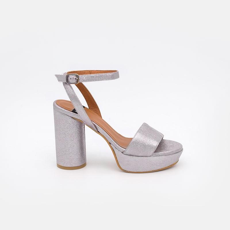 Zapatos mujer lavanda verano 2021 KOS Sandalias de tacón redondo y alto con plataforma. 20069-750U Ángel Alarcón. España