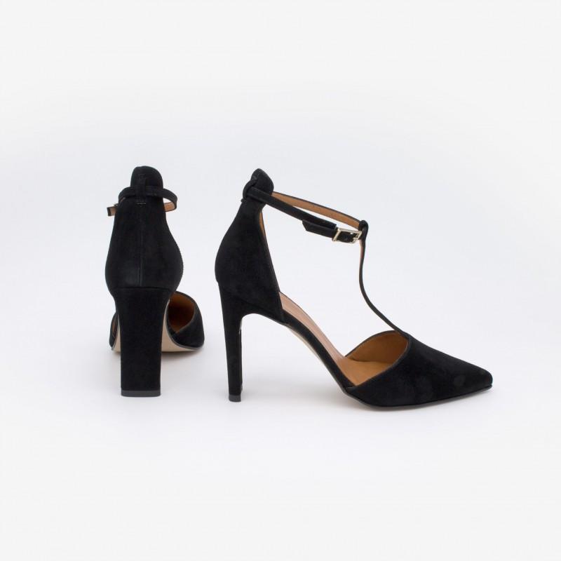 Zapatos mujer verano 2021 negros SAO Zapatos de vestir de piel de punta fina y con tacón alto. Angel Alarcon 20095-106R