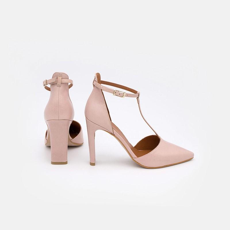 Zapatos mujer verano 2021 nude rosa palo SAO Zapatos de vestir de piel de punta fina y con tacón alto. Angel Alarcon 20095-106R