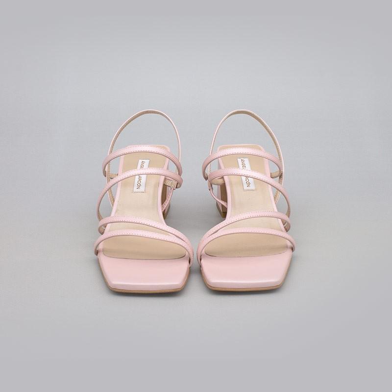 ROSA BEBE ENMA Sandalias de tiras cómodas con tacón ancho. Zapatos de novia y fiesta 21017-528B ANGEL ALARCON 2021 2022
