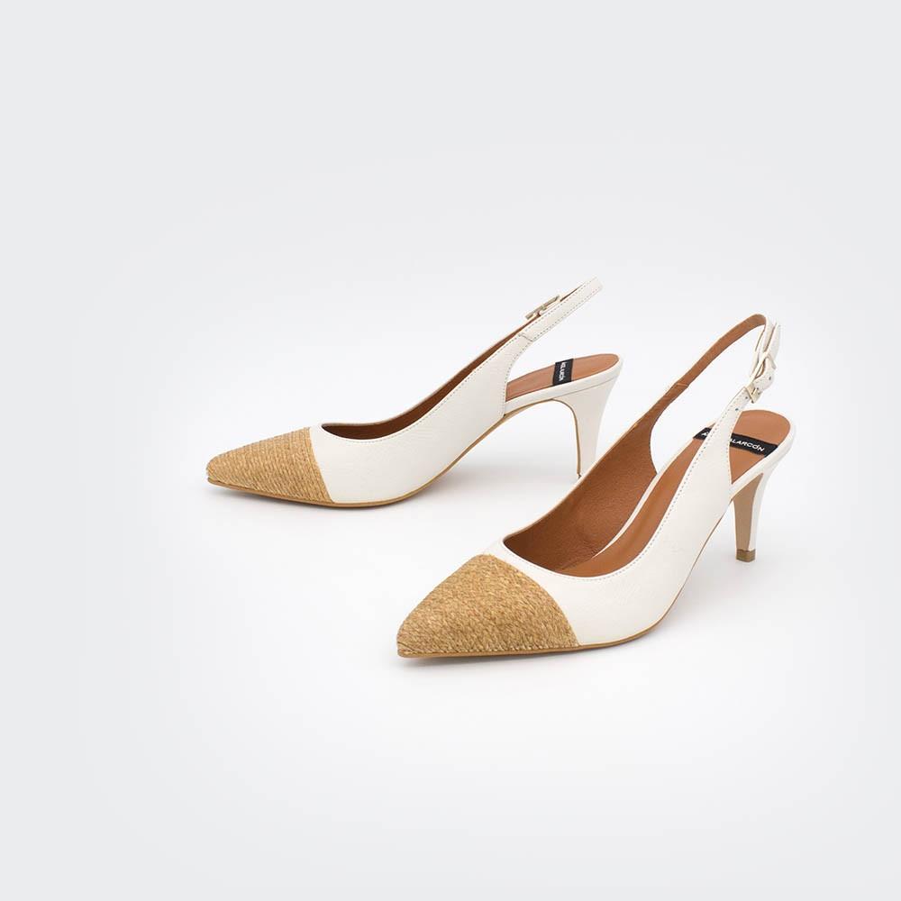 blanco nude rafia cuerda CIES - Zapatos de vestir de punta fina destalonado 2020 mujer stiletto tacón medio primavera verano