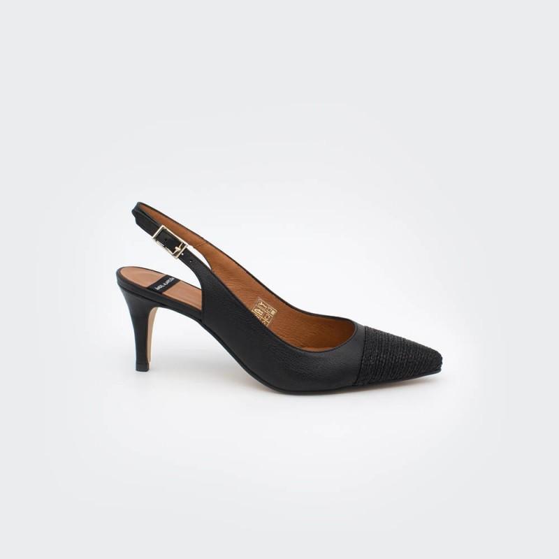 negro rafia cuerda CIES - Zapatos de vestir de punta fina destalonado 2020 mujer stiletto tacón medio primavera verano