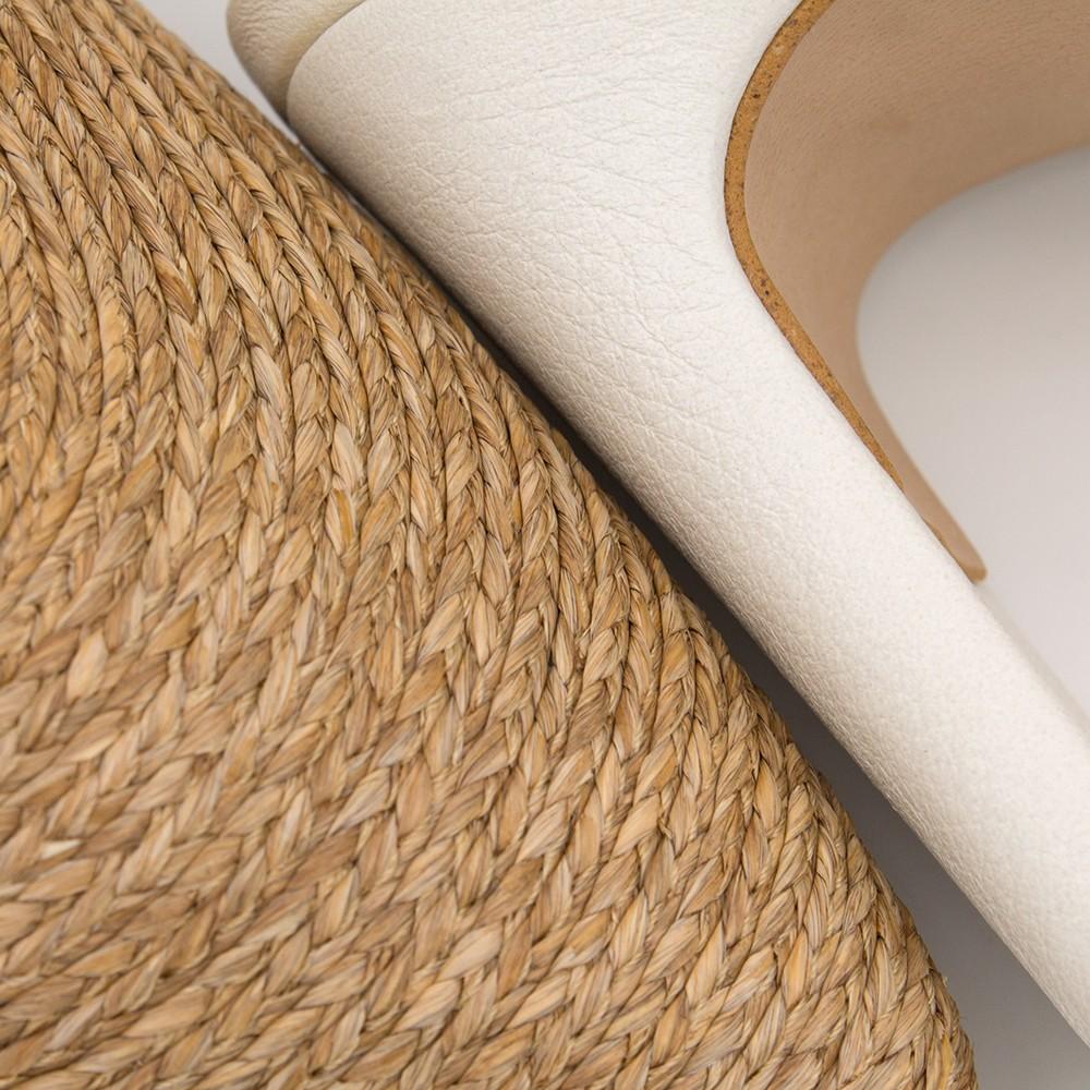 blanco nude rafia cuerda piel TOURE - Zapato de vestir de punta fina con pulsera mujer stiletto tacón primavera verano 2020