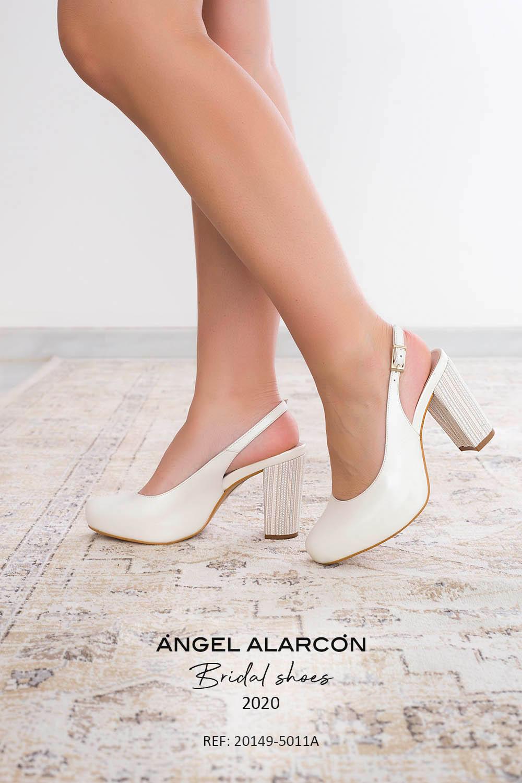 zapatos de novia 2020 20149-5011A BLANCO B