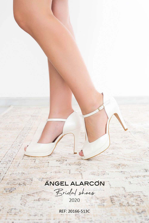 zapatos de novia 2020 20166-513C BLANCO B
