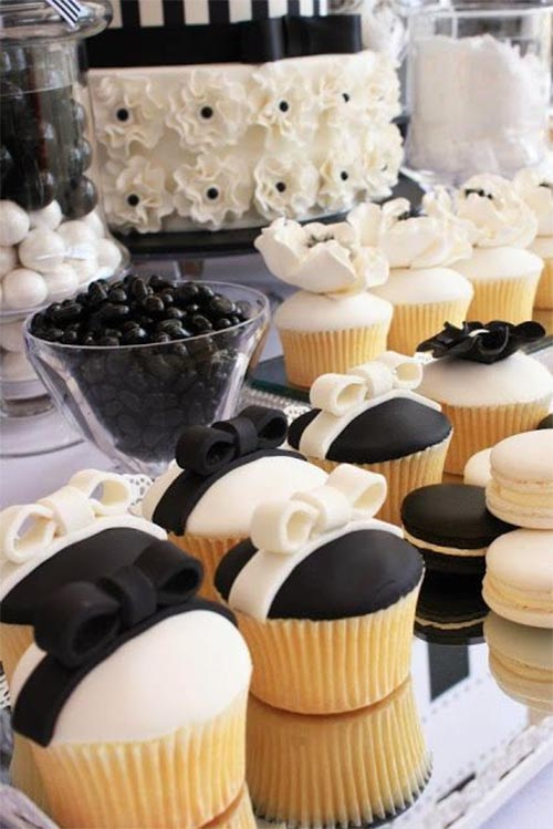 mesa dulce blanco y negro
