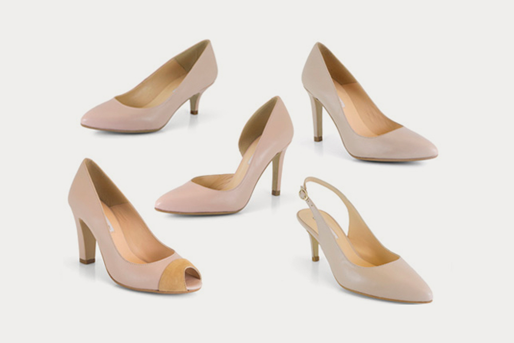 nude leather shoes by Ángel Alarcón