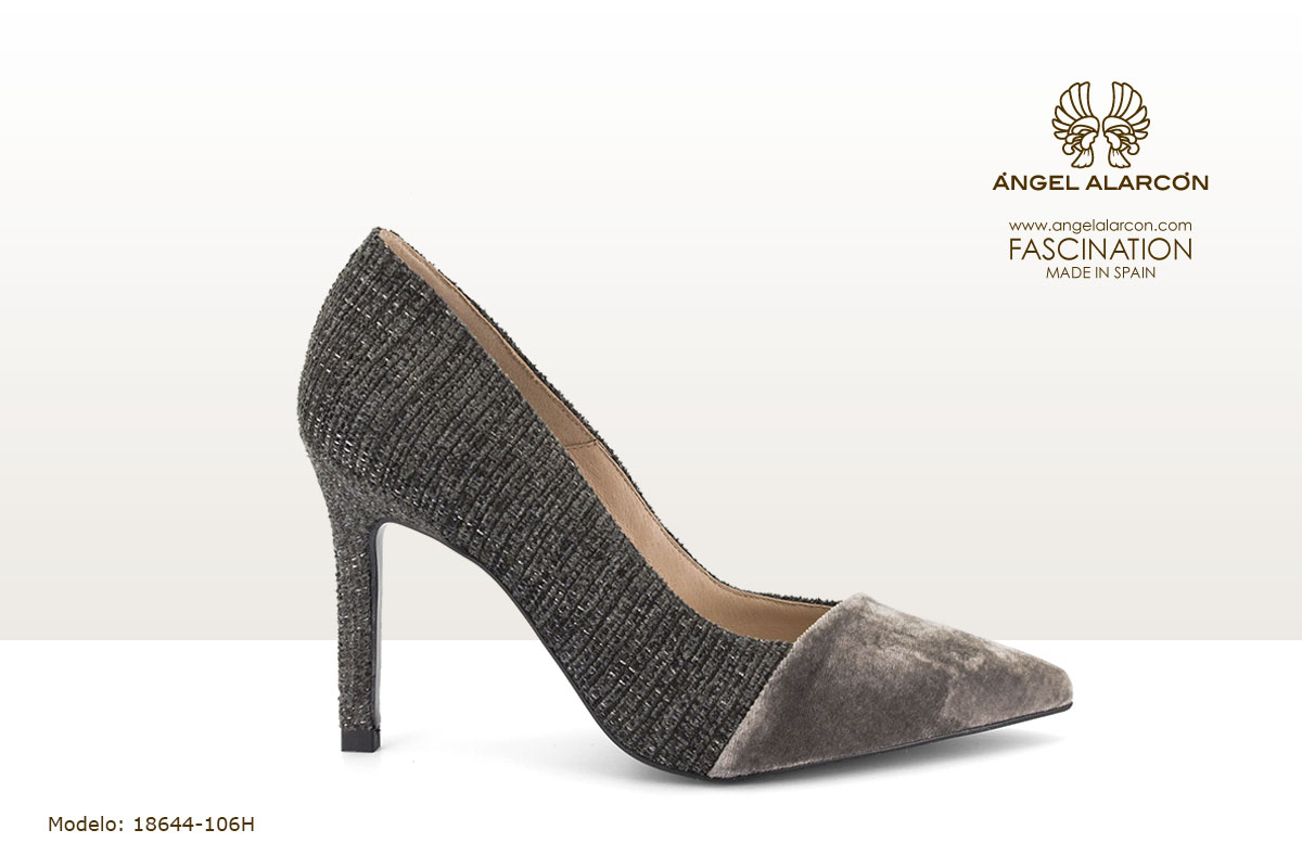 18644-106H zapatos invierno winter autumn shoes Angel Alarcon - stiletto plata gris