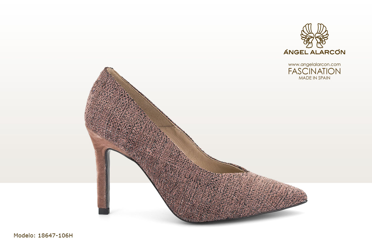 18647-106H zapatos invierno winter autumn shoes Angel Alarcon - stiletto rosa terciopelo