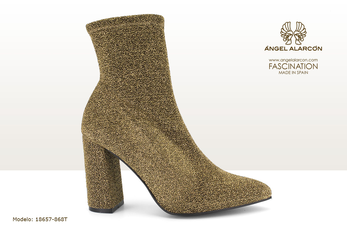 18657-868T zapatos invierno winter autumn shoes Angel Alarcon - botin elastico dorado