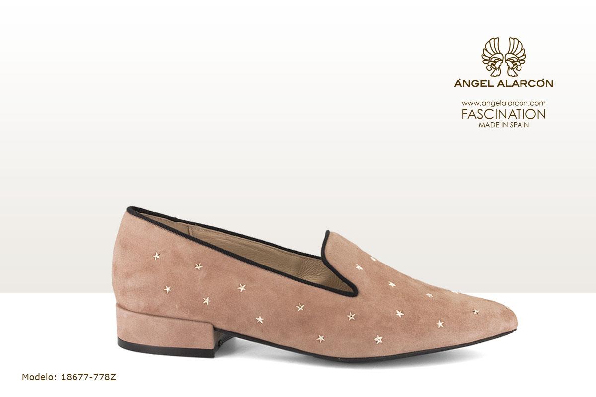 18677-778Z zapatos invierno 2019 winter autumn shoes Angel Alarcon - Mocassin de fiesta mujer con estrellas