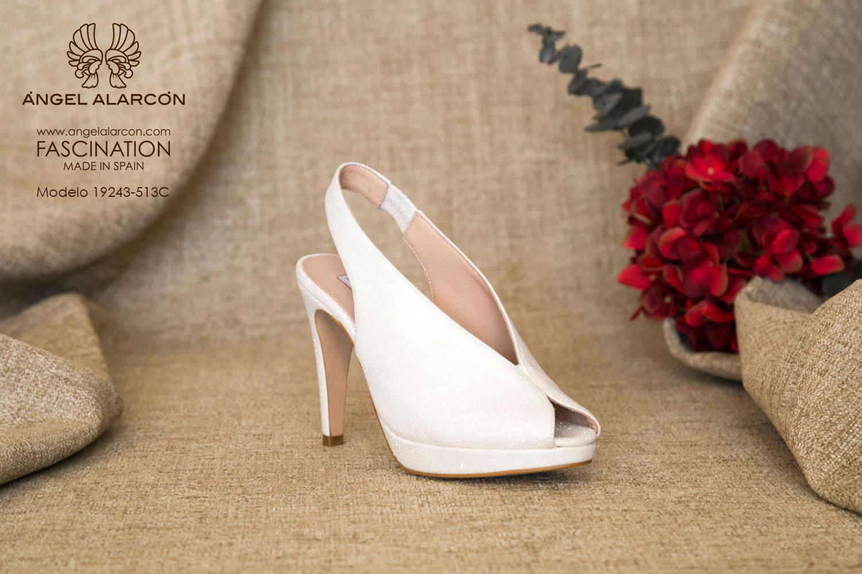 zapatos de novia 2019 de la marca Angel Alarcon 19243-513C raso brilli brilli
