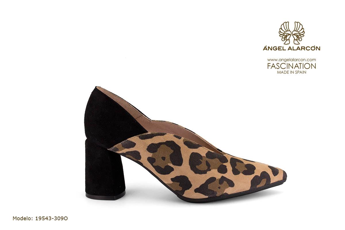 zapatos de mujer invierno 2019 2020 AW2019 - Autumn winter woman shoes - 19543-309O - zapato cerrado tacon ancho salon comodo