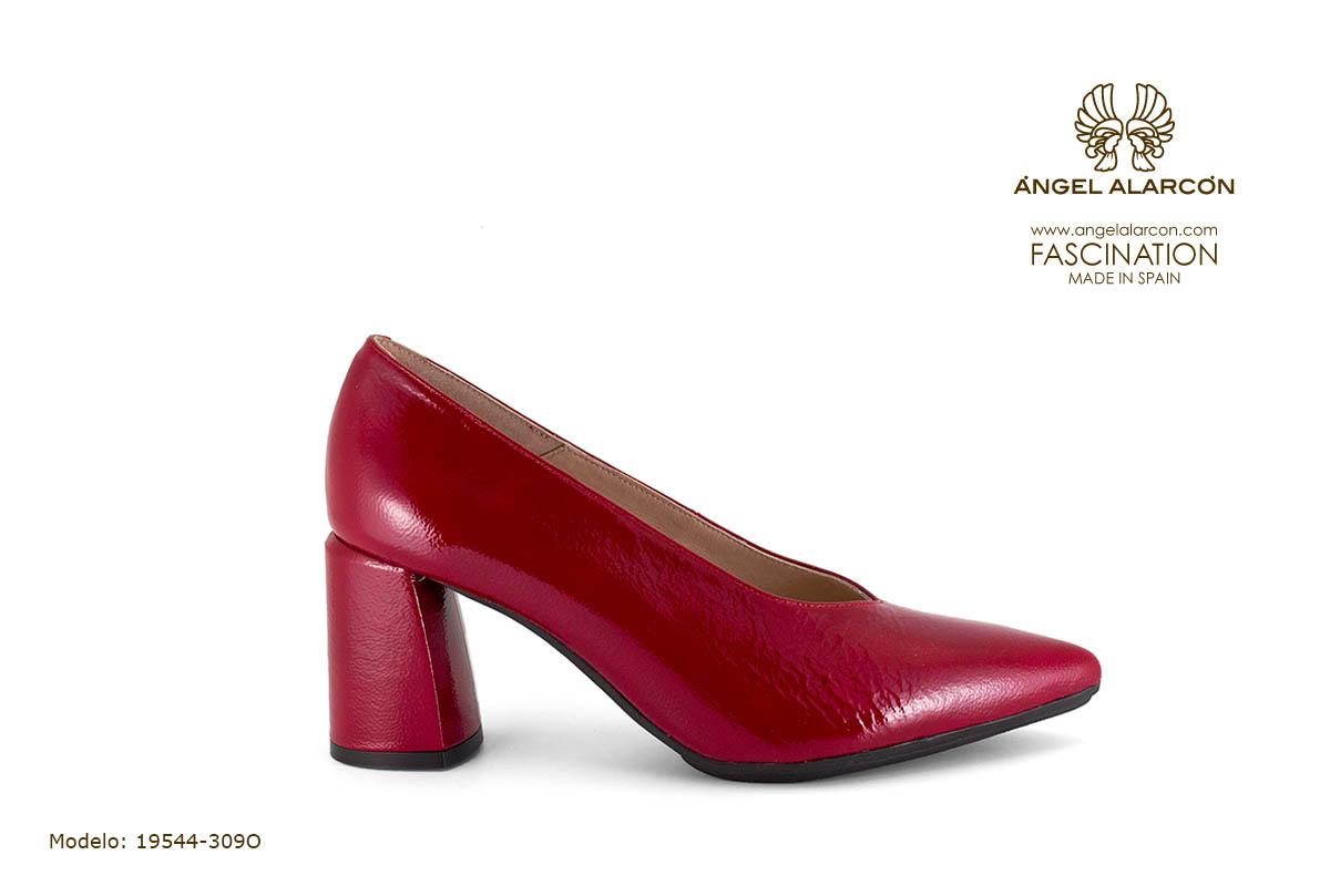 zapatos de mujer invierno 2019 2020 AW2019 - Autumn winter woman shoes - 19544-309O - zapato cerrado tacon ancho salon comodo