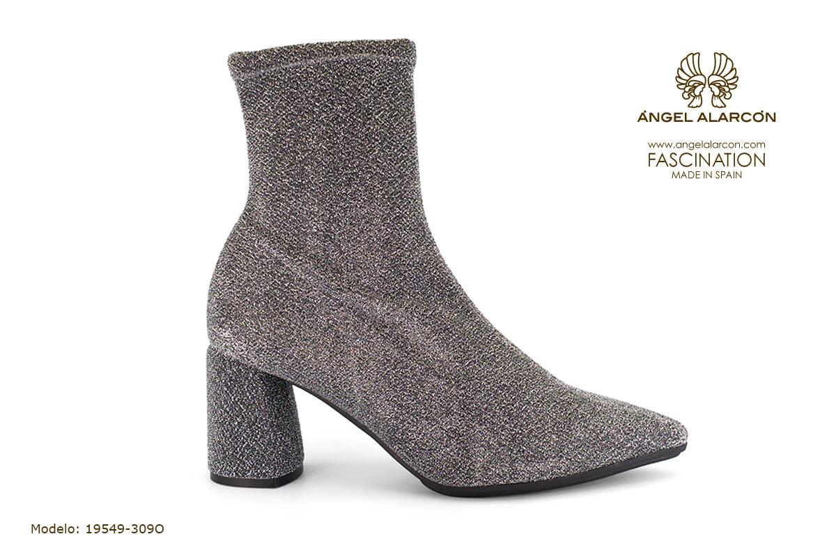 zapatos de mujer invierno 2019 2020 AW2019 - Autumn winter woman shoes - 19549-309O - botin calcetin tacon ancho comodo