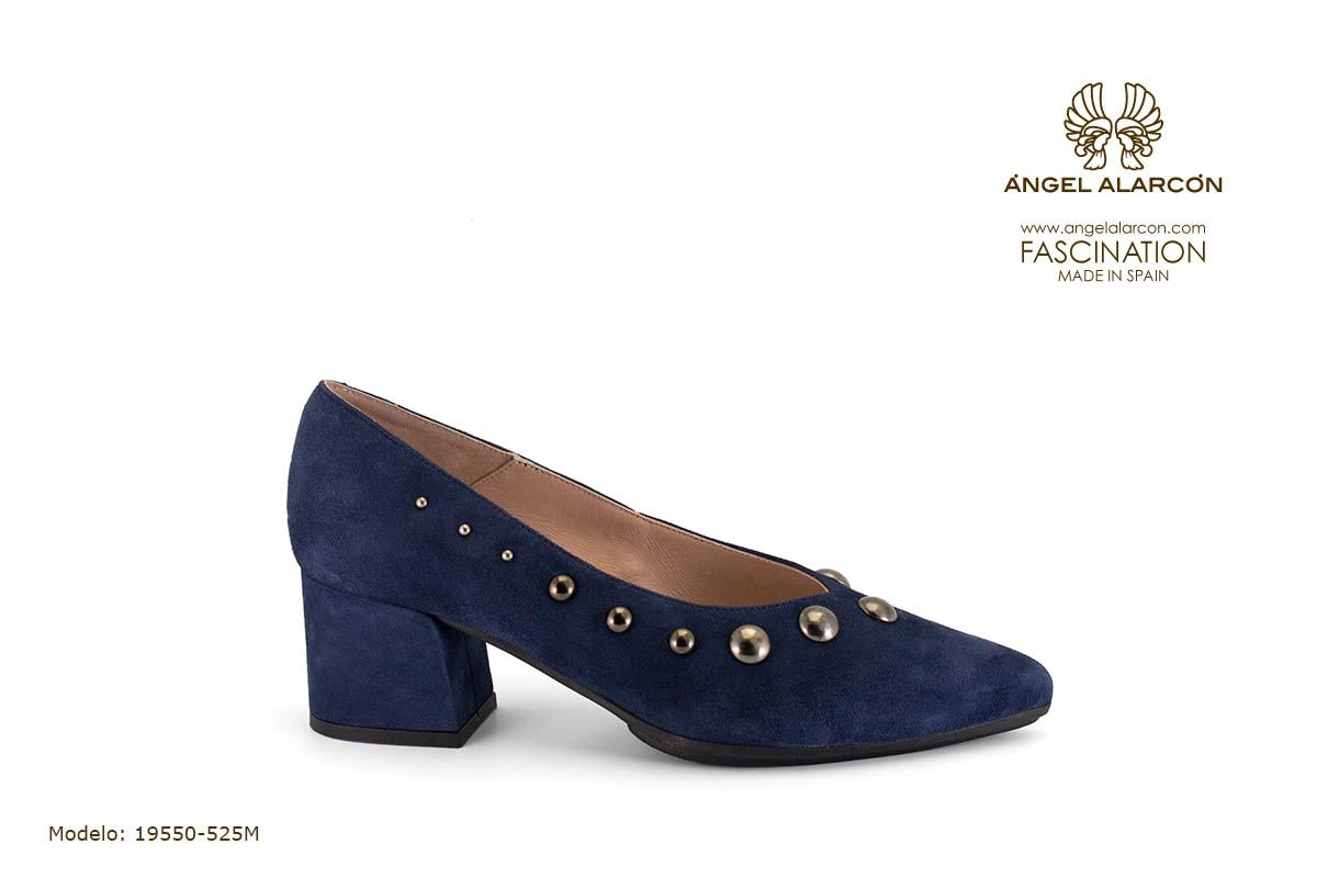 zapatos de mujer invierno 2019 2020 AW2019 - Autumn winter woman shoes - 19550-525M - salon comodo tacon ancho punta fina