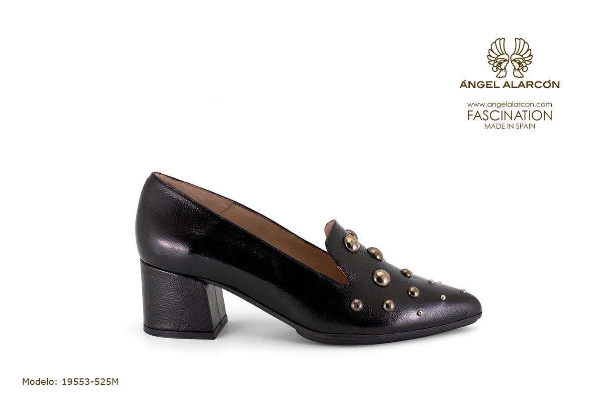 zapatos de mujer invierno 2019 2020 AW2019 - Autumn winter woman shoes - 19553-525M - salon comodo tacon ancho punta fina