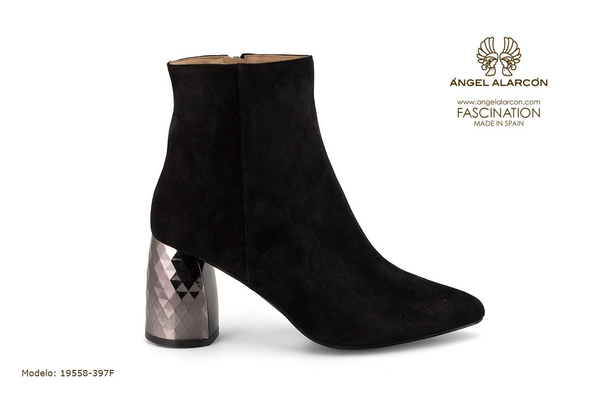 zapatos de mujer invierno 2019 2020 AW2019 - Autumn winter woman shoes - 19558-397F - botin calcetin tacon ancho comodo
