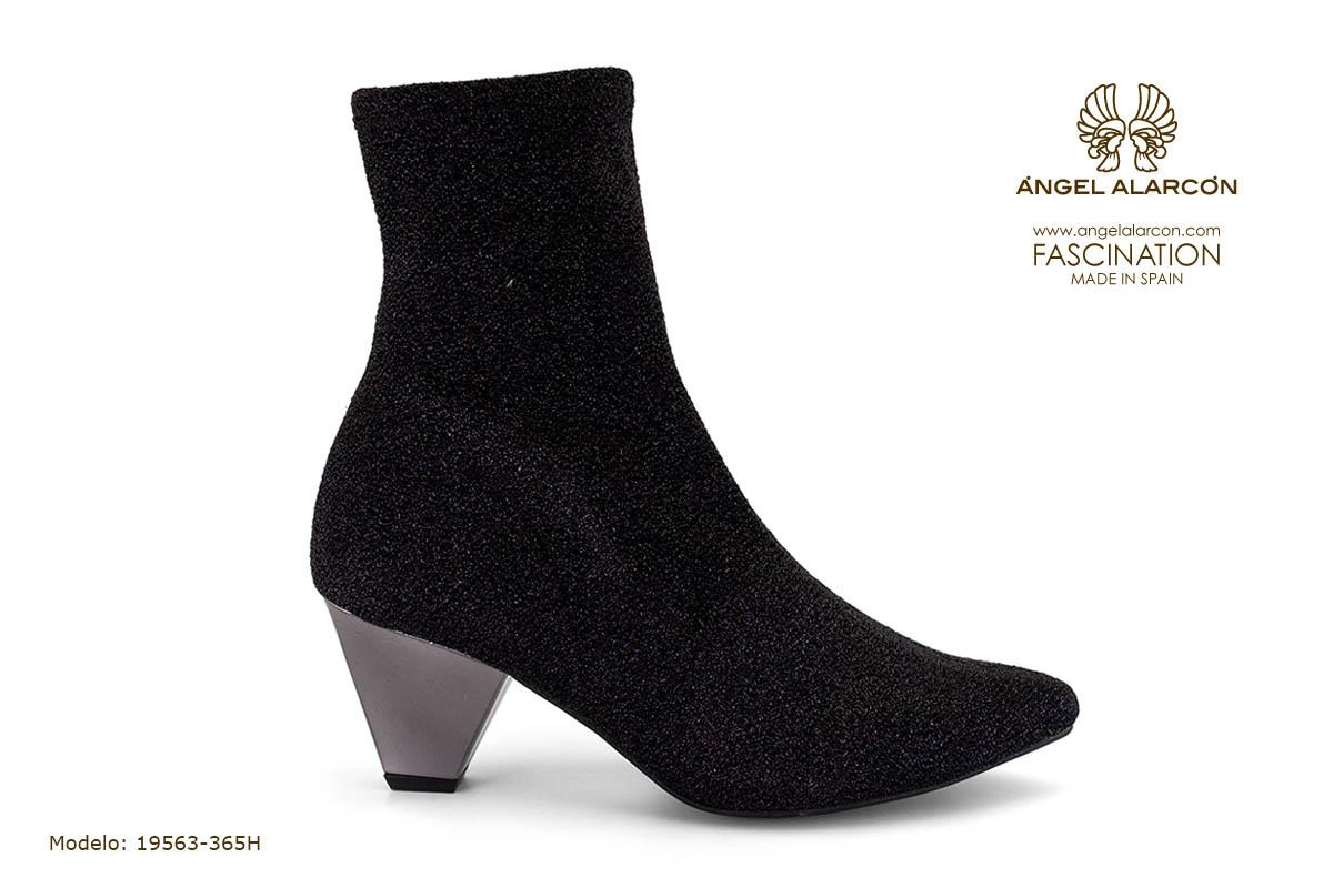 zapatos de mujer invierno 2019 2020 AW2019 - Autumn winter woman shoes - 19563-365H - botin calcetin tacon ancho comodo