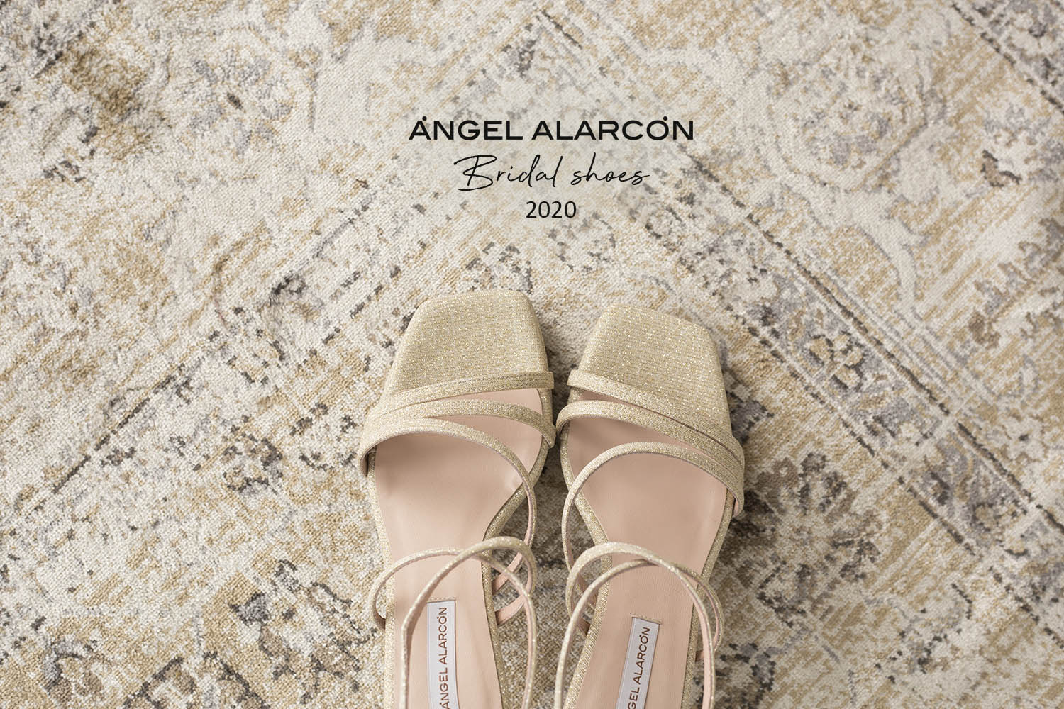 Angel alarcon 2021 golden wedding shoes 2020