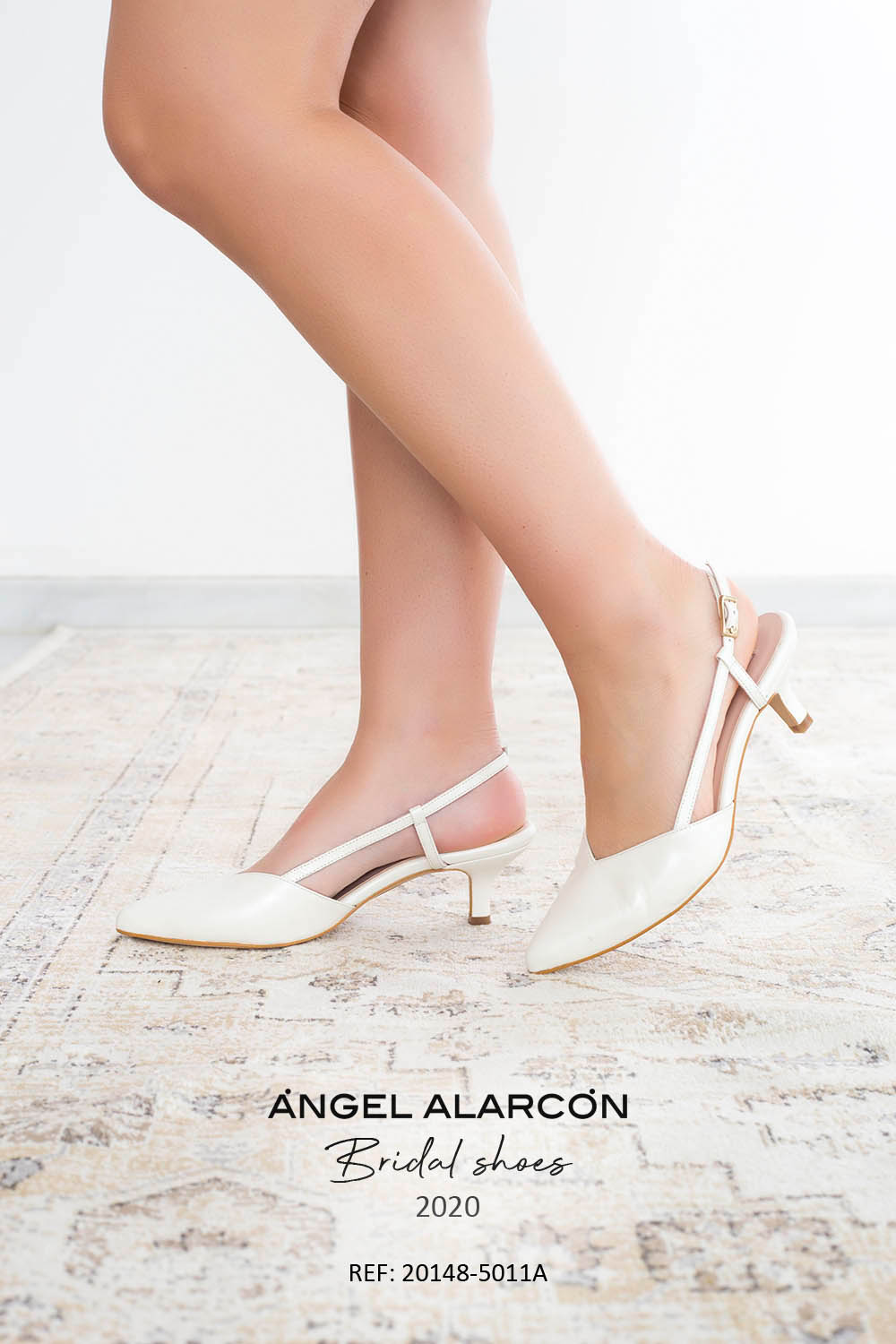 bridal shoes 2020 20150-525C WHITE B . Comfortable women's wedding shoes by Angel Alarcon