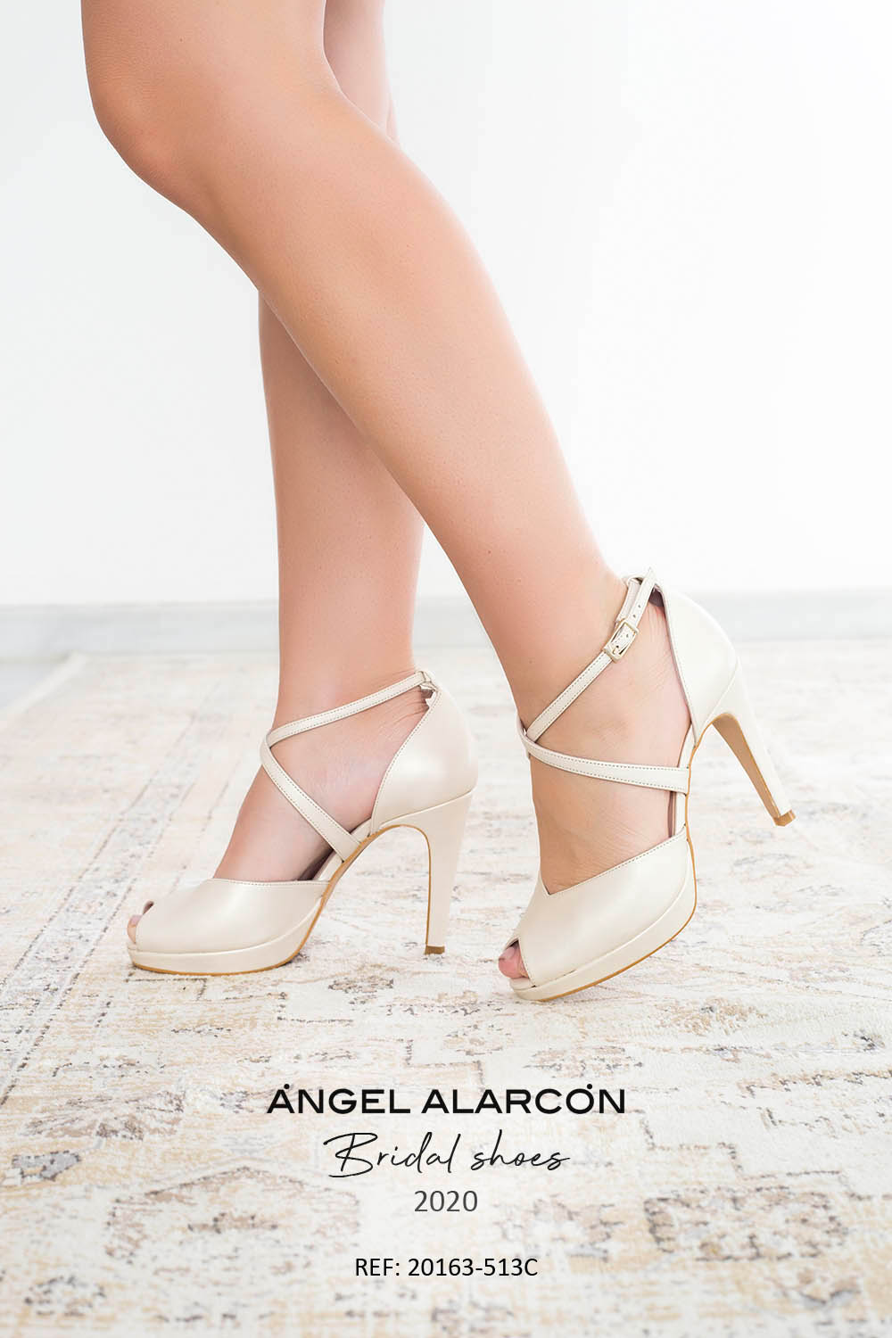 wedding shoes 2020 20163-513C IVORY - Comfortable women's wedding shoes by Angel Alarcon