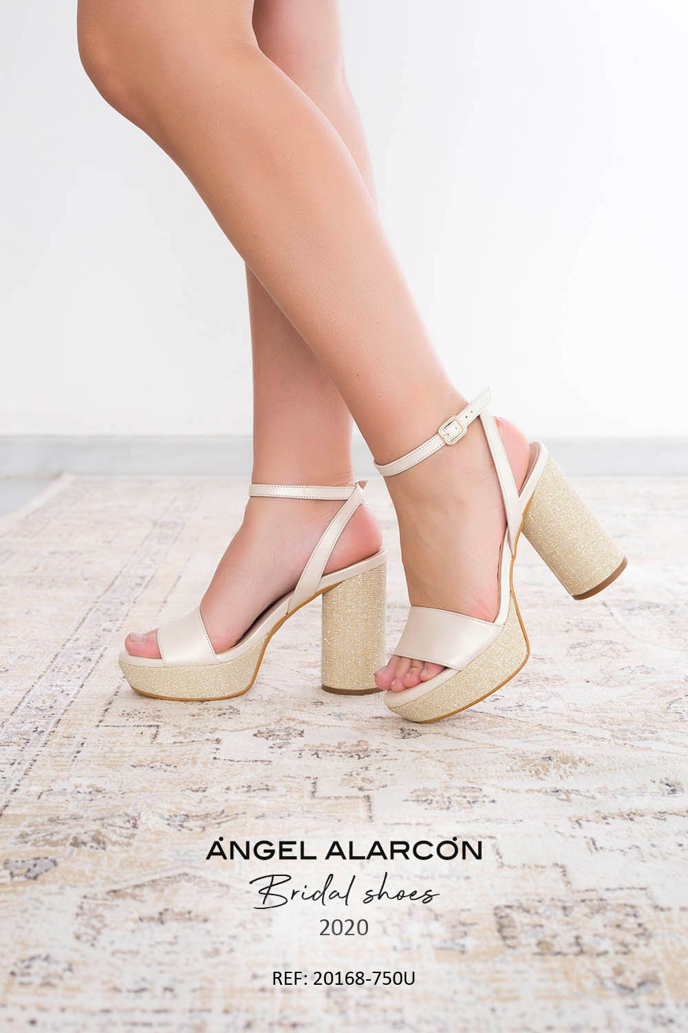 wedding shoes 2020 20168-750U IVORY B - Comfortable women's wedding shoes by Angel Alarcon