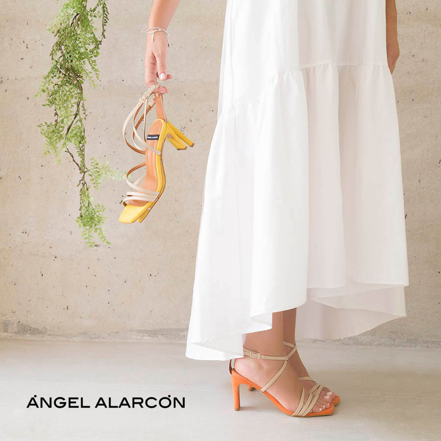 Dress and daily shoes from the Ángel Alarcón brand. Women's sandals and shoes spring summer 2020