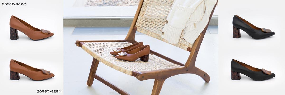 zapato cómodo cerrado de tipo salon con adorno 2020 2021