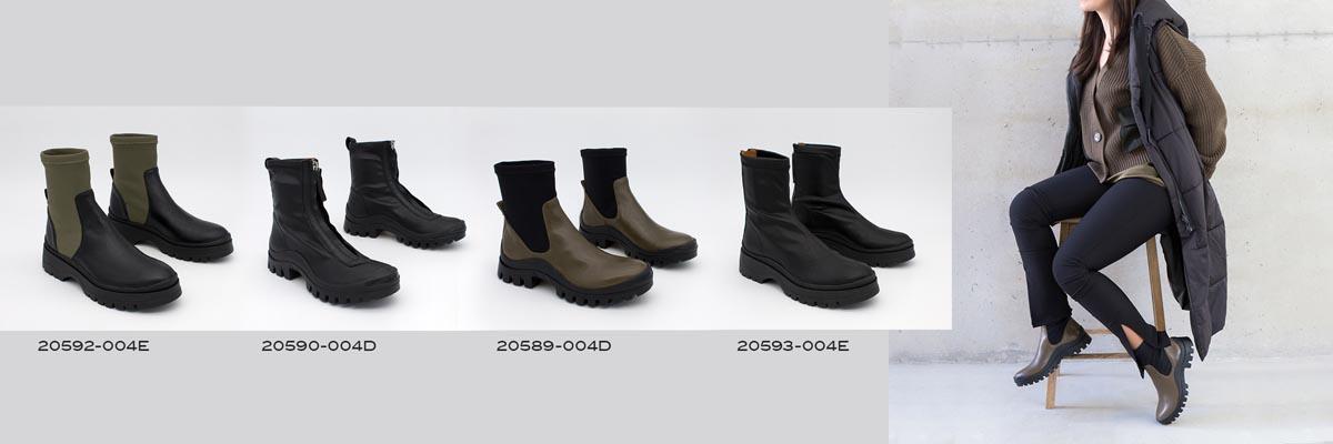 Botines con suela track dentada de goma botines elásticos 2020 2021